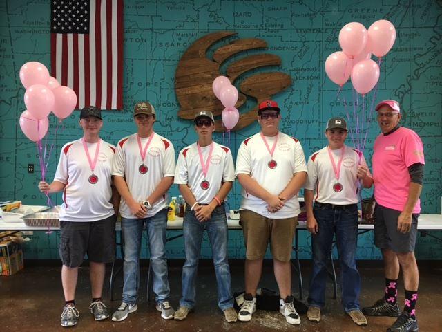 1st place team - Arkansas Pattern Masters - Parker Hutchins, Lane Ward, Lane Clark, Shawn Hastings,