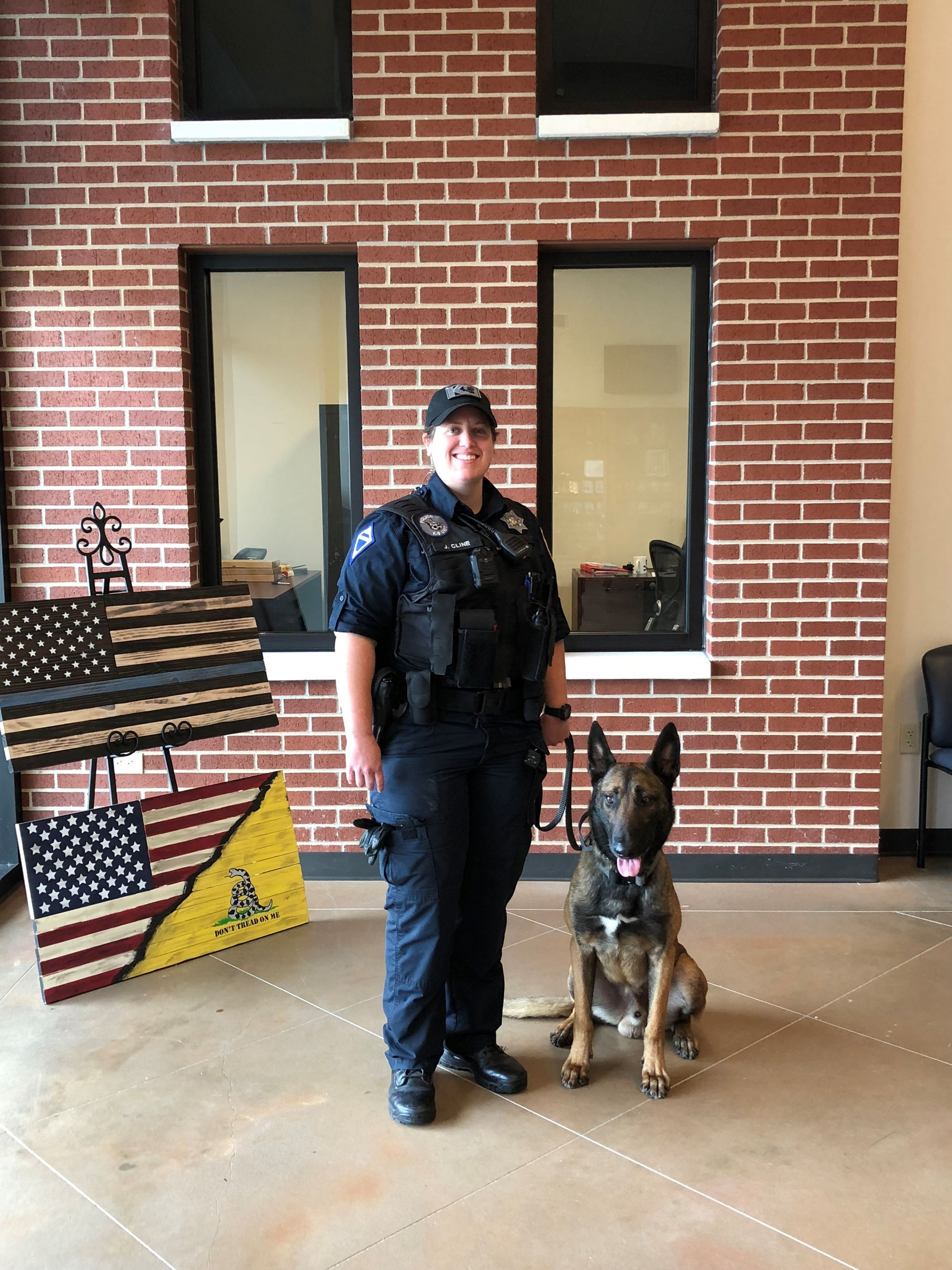 Officer Cline and K9 Spartan