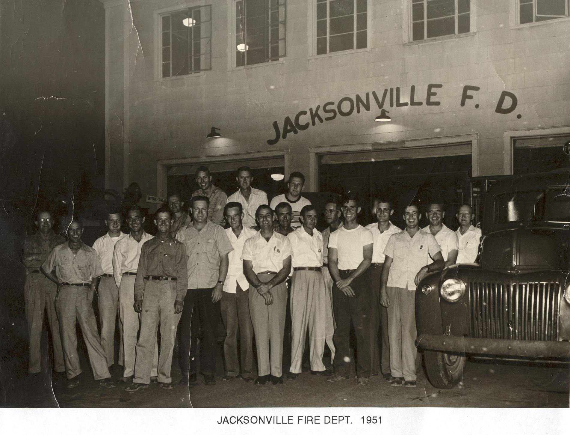 1951 Jacksonville Fire Department Group