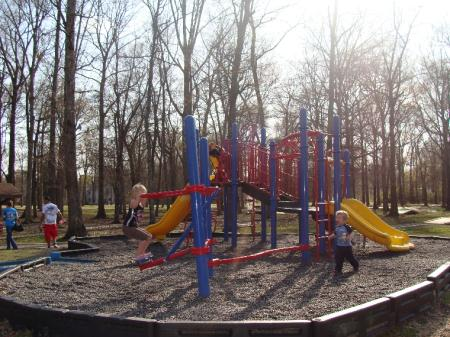 Stonewall Park Playground with Children Playing