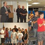 Junior Citizens Police Academy members and instructors