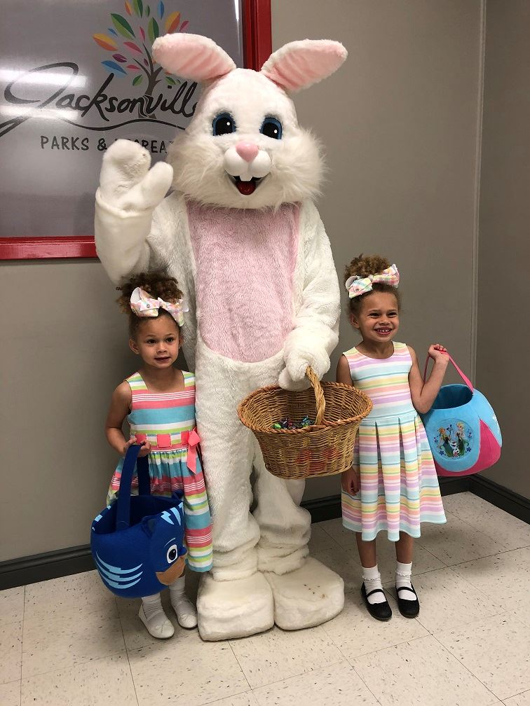 Easter Bunny with girls