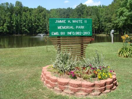 Jimmie White Park Sign